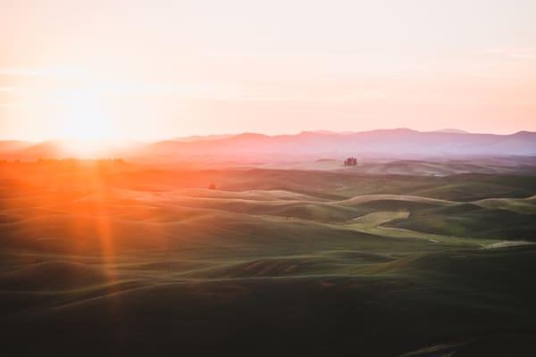 Sunrise Celebration - Sunrise over the country in Eastern Washington landscape photograph print