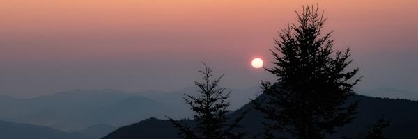 Beautiful Sunrise At Waterrock Knob, NC Print