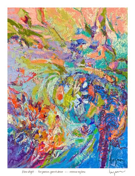Elixir D'light Haiku Print Art | Dorothy Fagan Joy's Garden