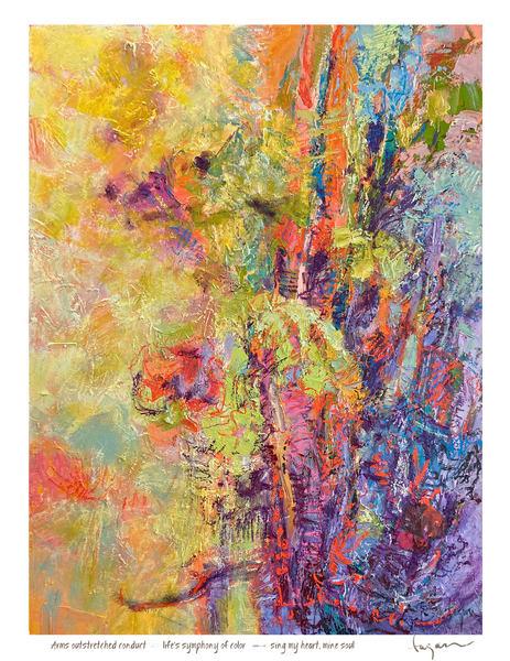 Sing My Heart Haiku Book Print Art | Dorothy Fagan Joy's Garden