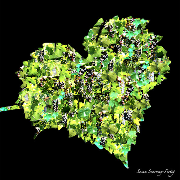 Heart Vines I Art | Susan Searway Art & Design