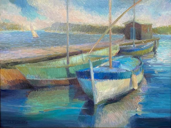 Fishing Boats In Provence Art | Fountainhead Gallery