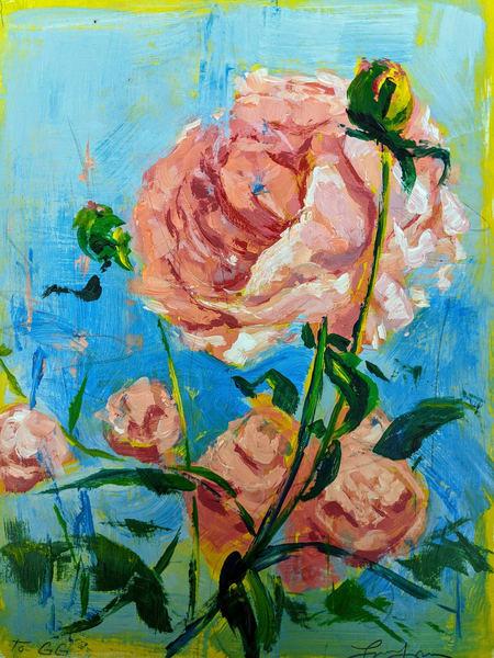 My Sisters Peony  Art | Lindsey Davis Johnson Fine Art
