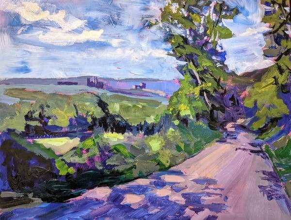 Dirt Road From San Gimignano Art | Lindsey Davis Johnson Fine Art