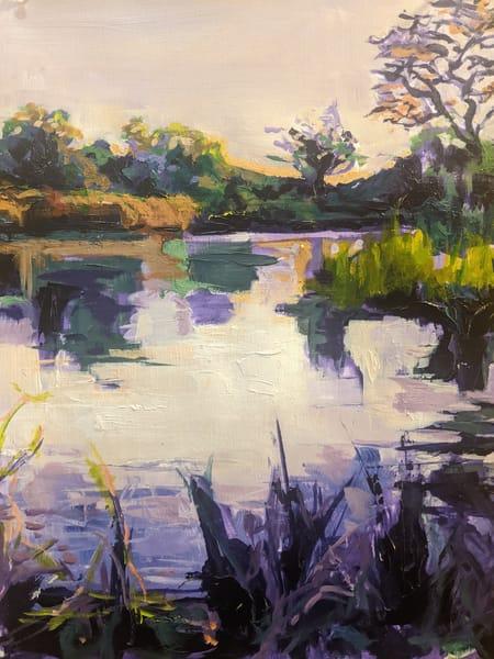 Dusk On The Water  Art | Lindsey Davis Johnson Fine Art