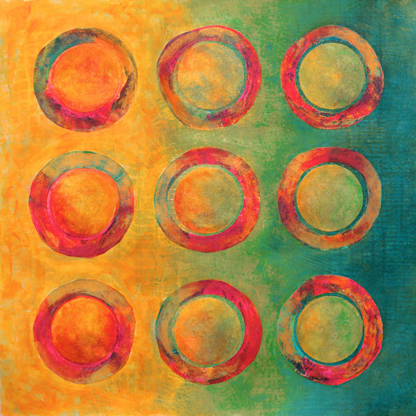 Pop Circles - Original Abstract Painting | Cynthia Coldren Fine Art