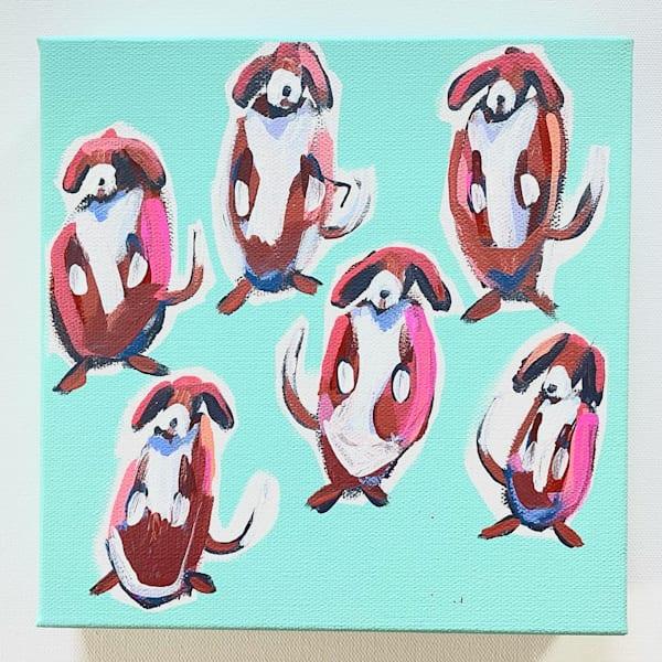 Mini Beagles   Dance Fever 8 X 8  | Lesli DeVito