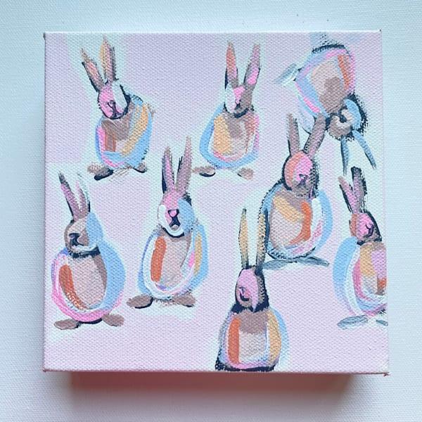 Mini Bunnies   Baby Bunnies  6 X 6 | Lesli DeVito