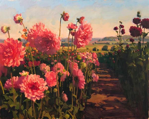 Flower Aisle Art   Diehl Fine Art