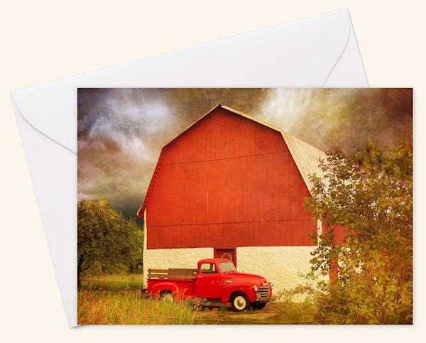 Big Red Blank 5x7 Card