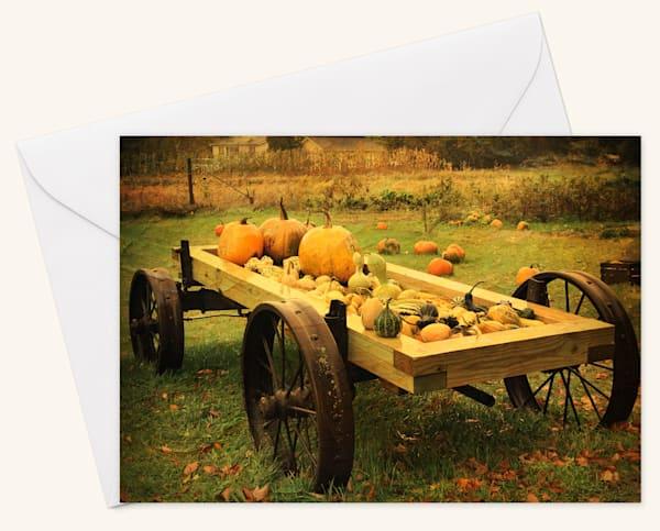 Pumpkin Cart Blank 5x7 Cart
