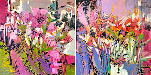 And To Everything There Is A Season, Bloom! Diptych Art | Dorothy Fagan Joy's Garden