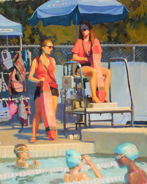 Pool Watch Art   Diehl Fine Art