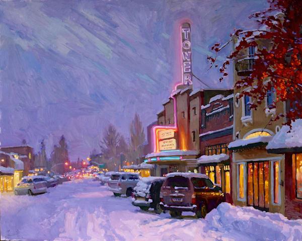 Snow And A Show Art   Diehl Fine Art