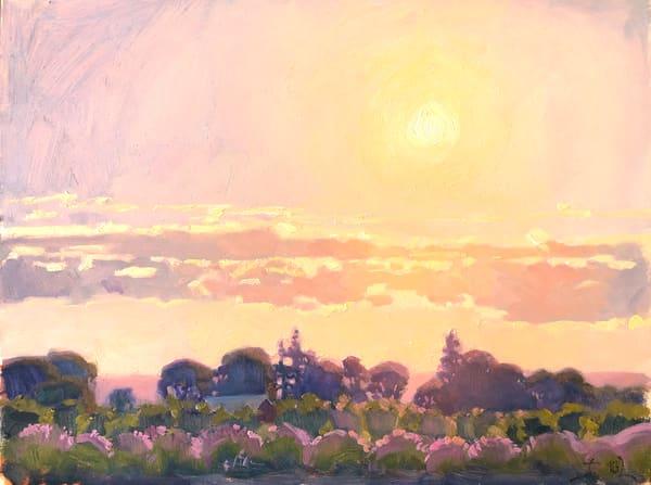 Sunset Over The Fields Art | Diehl Fine Art