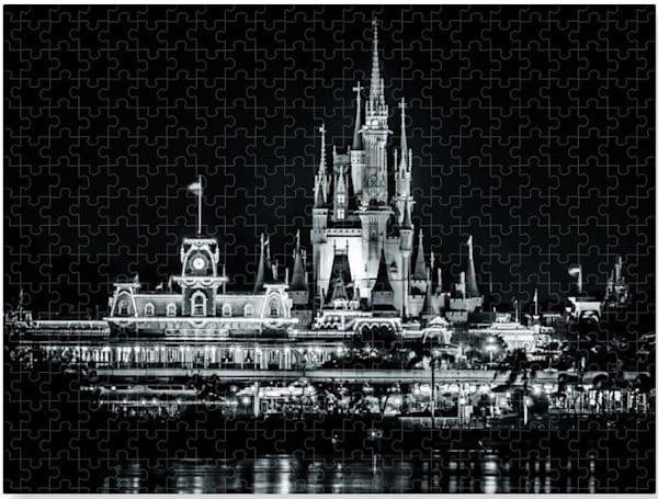 Magic Kingdom Black And White   Disney 1000 Piece Puzzle   William Drew Photography