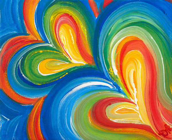 True Blue Hearts Art | Heartworks Studio Inc