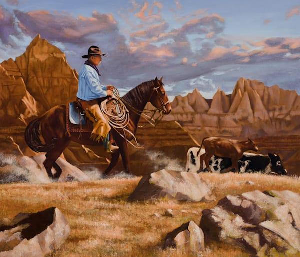 "Raymond Wattenhofer Original Art Oil Painting ""Trail Dust"""
