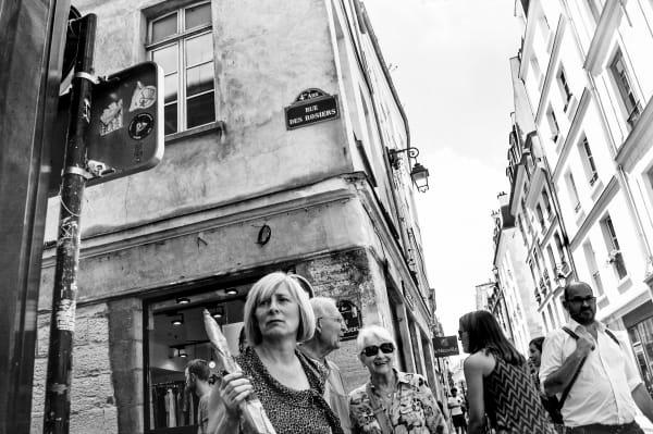 Paris   Woman With A Baguette  Photography Art   Nick Levitin Photography