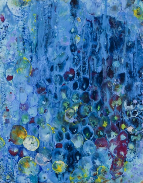 Hollyhocks Between You And Me Art | Ginny Krueger