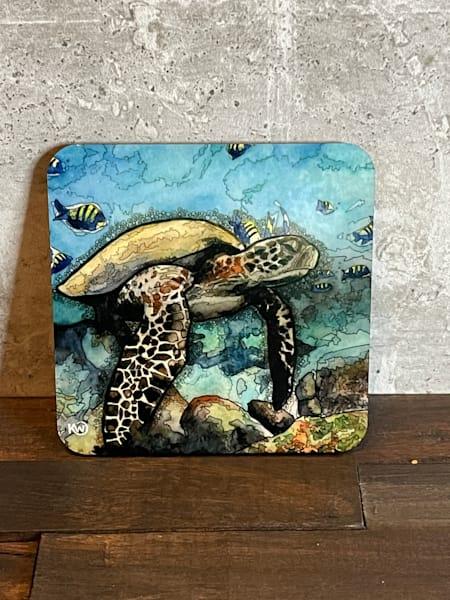Sea Turtle 2 Coaster | Water+Ink Studios