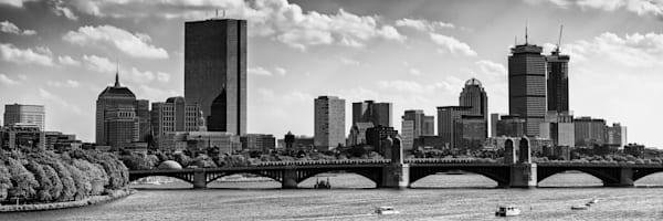 Longfellow Bridge Panorama Monochrome   Shop Photography by Rick Berk