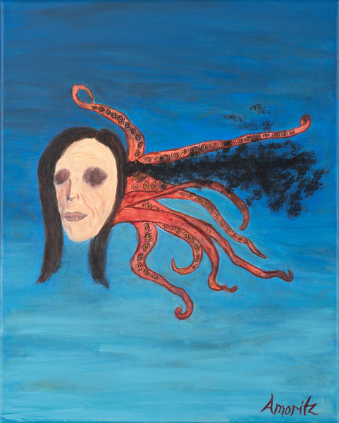 Psychoanalysis Surrealist painting by Maryse Gauthier 04-2019