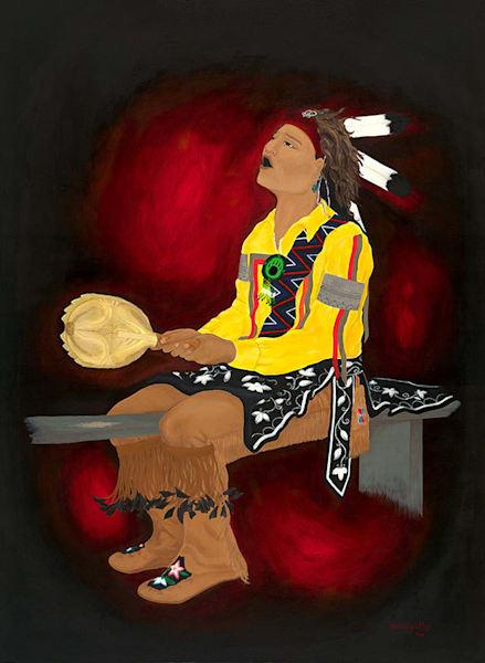 """He Conducted The Song"" fine art print by Leanne Kalihwiyostha Thompson."