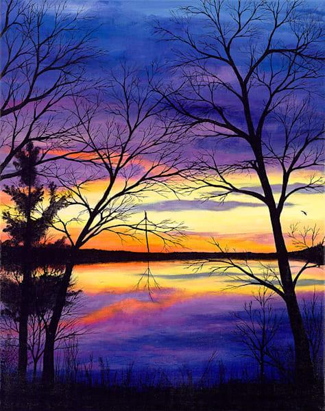 """LCO Sunset"" fine art print by Leanne Kalihwiyostha Thompson."
