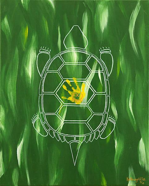 """""""Life"""" Turtle - Atunhetsla fine art print by Leanne Kalihwiyostha Thompson."""