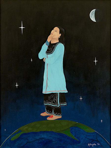 """I Am Conscious"" fine art print by Leanne Kalihwiyostha Thompson."