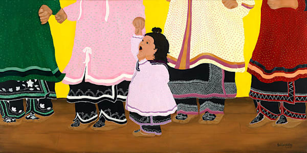 """Women's Dance"" fine art print by Leanne Kalihwiyostha Thompson."