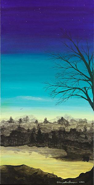 """Wolf 1"" fine art print by Leanne Kalihwiyostha Thompson."