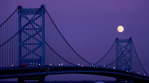 George Washington Bridge, Philadelphia Art | Wild Ponies creations