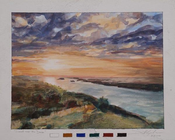 Sunset Over The Danube Art | Danielsartwork