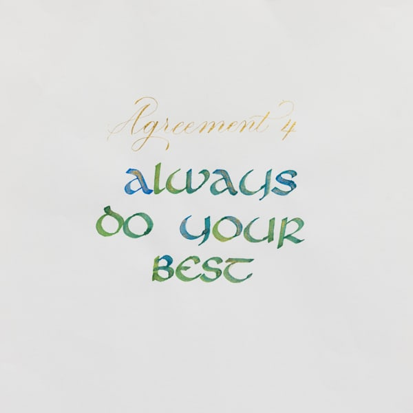 ASquareWatermelon - Art, Calligraphy - The Four agreements #4