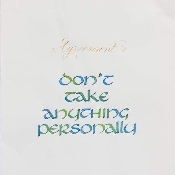 ASquareWatermelon - Art, Calligraphy - The Four agreements #2