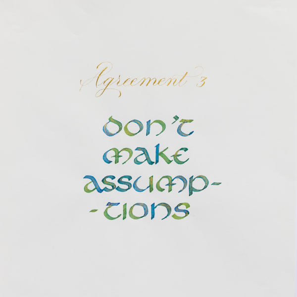 ASquareWatermelon - Art, Calligraphy - The Four agreements #3
