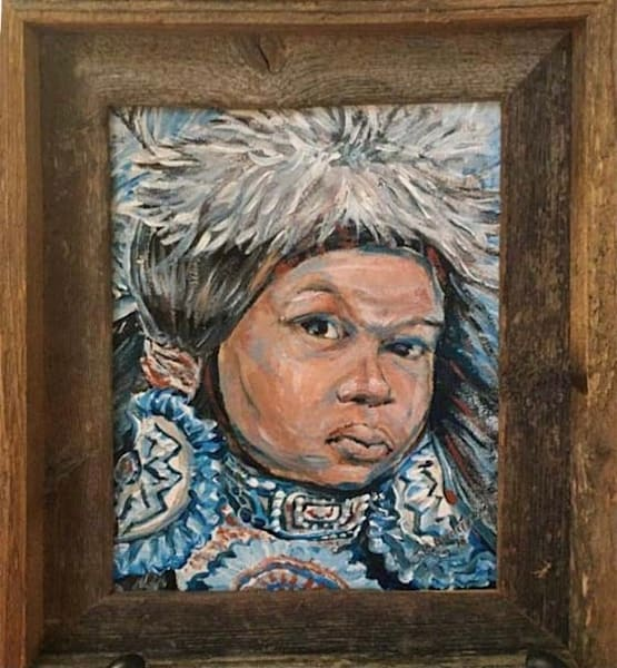 Mardi Gras Indian Boy Blue **Reserved** Call For Purchase Inquiry Art | New Orleans Art Center