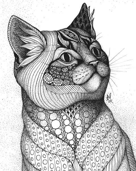 "Grey Kitty Art | Kristin Moger ""Seriously Fun Art"""