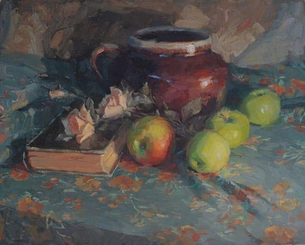 Apples And Jug Art   Diehl Fine Art