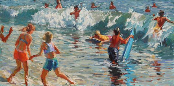Deep Blue Fun Art | Diehl Fine Art