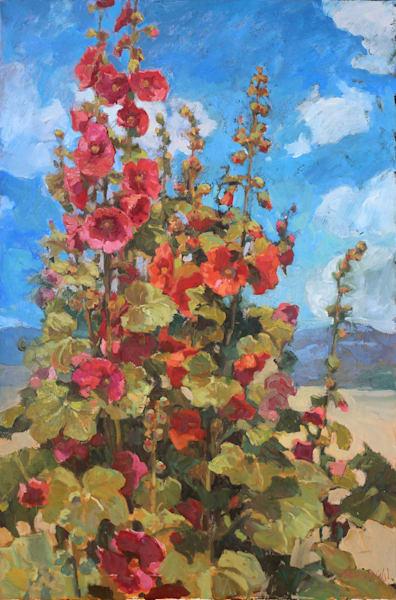 Holly Hock Gathering Art | Diehl Fine Art