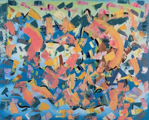 Teal Under Siege - Original Oil Painting