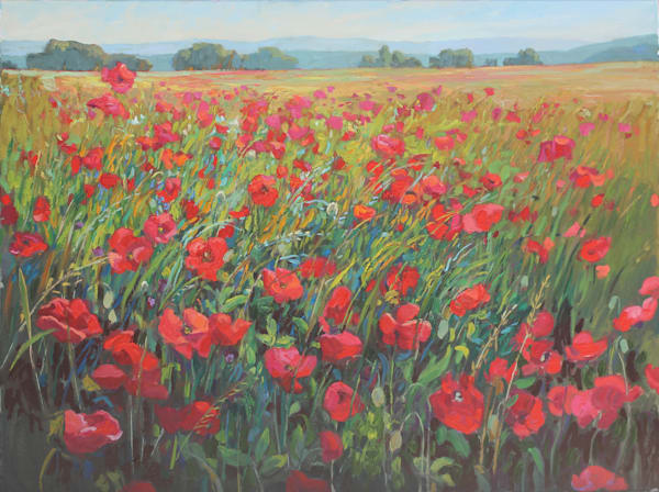 Partly Cloudy With A Chance Of Red Art | Diehl Fine Art
