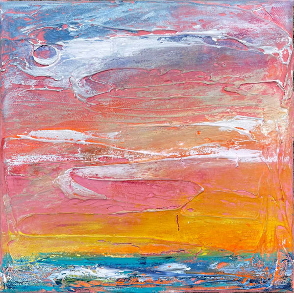 Sunset On The Shore Art | Heather Eck Artist LLC