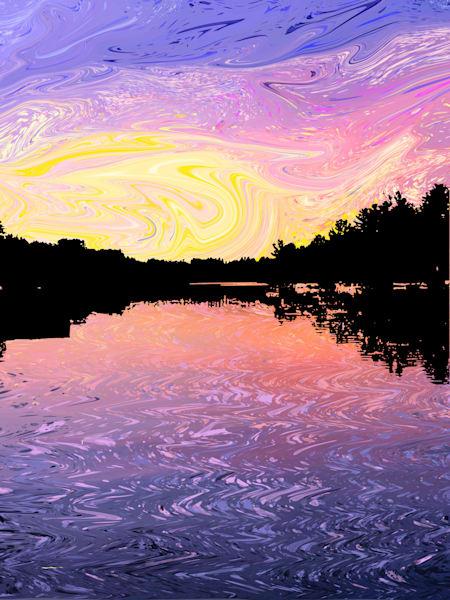 Sunset On The Rideau River Art   Elena Lipkowski Fine Arts, LLC