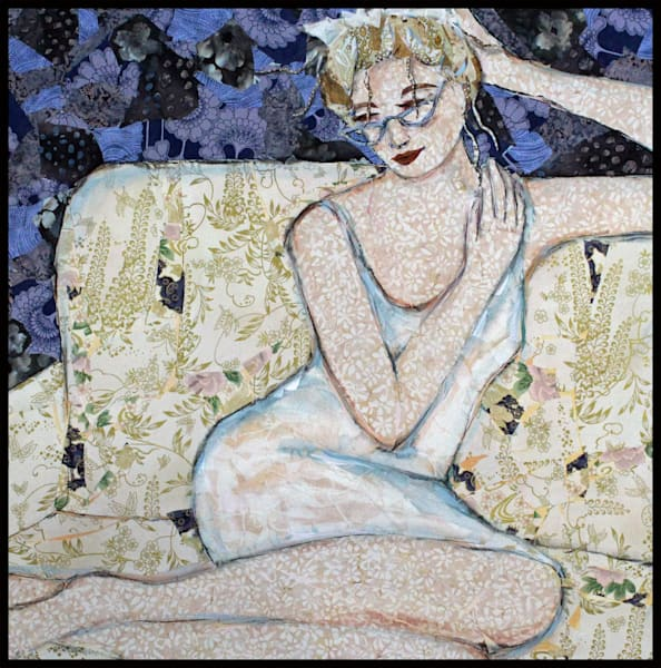 Girls With Glasses is a textile mosaic