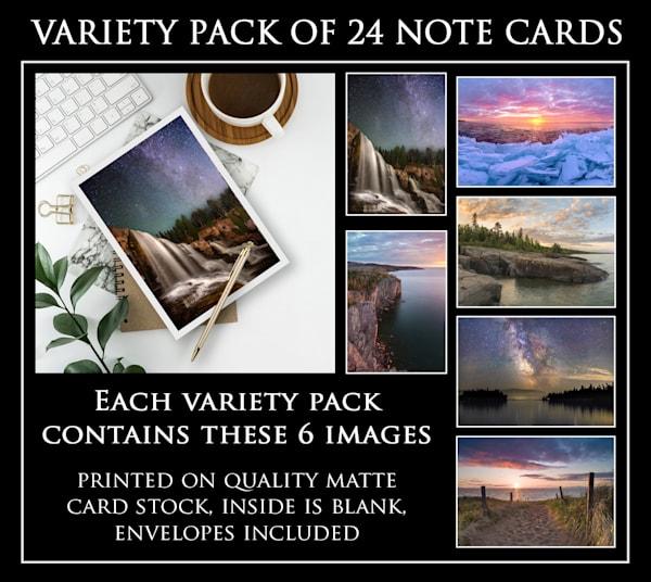 Note Card Variety Pack 3   24 Cards   Tischer Gallery