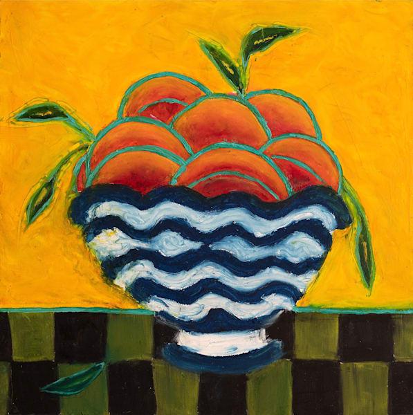 Nectarines In A Bowl Art | Norlynne Coar Fine Art